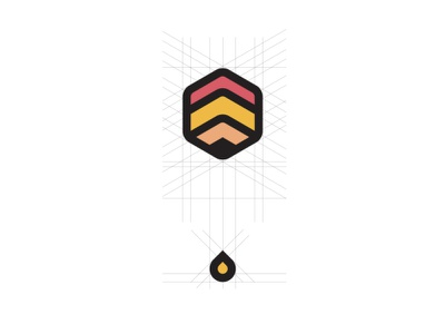 Beehive Logo Grid minimal illustrator illustration icon flat education website education design branding beehive