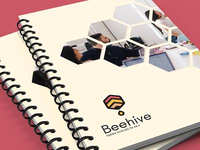 Beehive Logo Mockup logo tutoring minimal icon flat education website education design branding beehive
