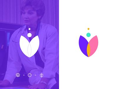 GynieCare Logo Intro app vector logo illustration illustrator icon flat branding minimal design