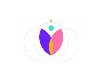 Gyniecare logo Spacing gyniecare illustrator logo app vector ui icon flat branding minimal design