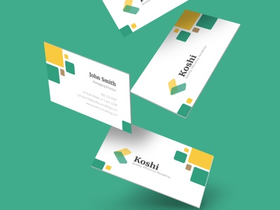 Koshi Consulting Business Card Design illustrator minimal identity branding identity design identity branding design brand identity brand design brand branding graphic design graphicdesign graphic logo design logodesign logotype logos logo