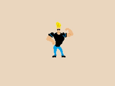 Johnny Bravo Pixel Art cartoon network 90s cartoon pixel art bravo johnny johnny bravo
