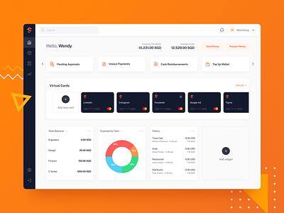 Spenmo Dashboard product design webapp fintech dashboard web ux ui design