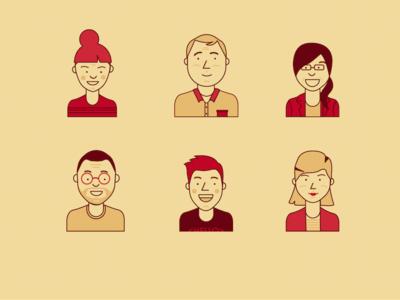 Personas Faces