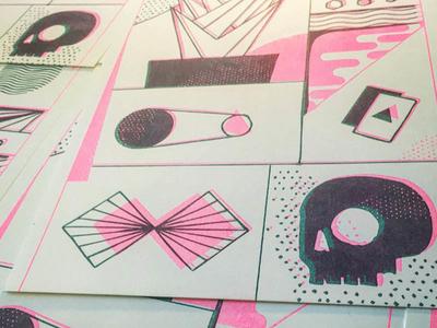 Doodles -> Riso print