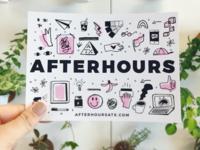 Afterhours show Postcard