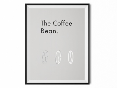 Poster Coffee branding design coffee bean bean type typography icon illustration coffee vector poster