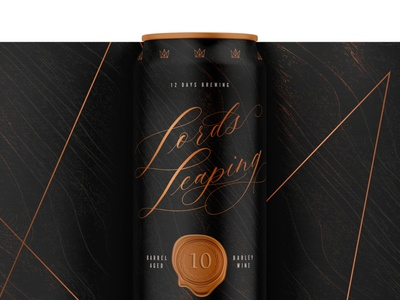 12 Days of Brewing :: 10 Lords A-Leaping holiday packaging design cpg