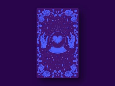 Cupid's Tarot | The High Priestess digital webdesign design illustration