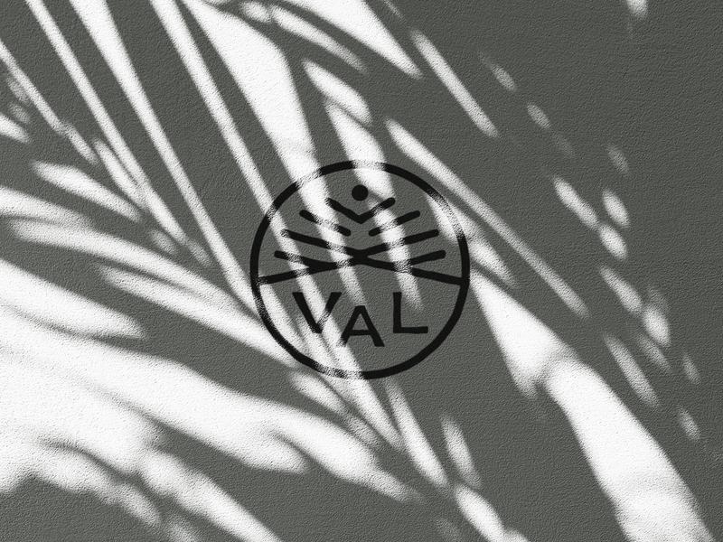V A L Ceramics Logo handmade small business ceramics symbol branding brand identity logo design