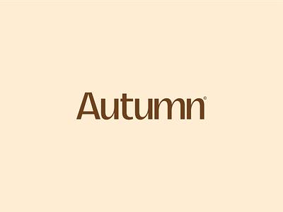 Autumn icon design flat vector branding typography graphic design minimal type logo