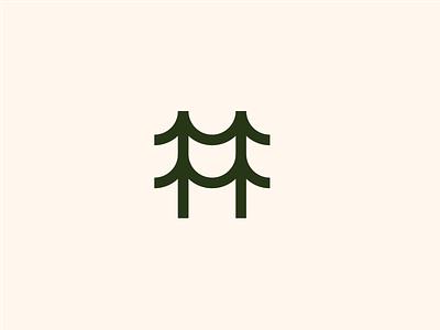 Trees identity illustration design mark flat vector graphic design branding icon minimal logo