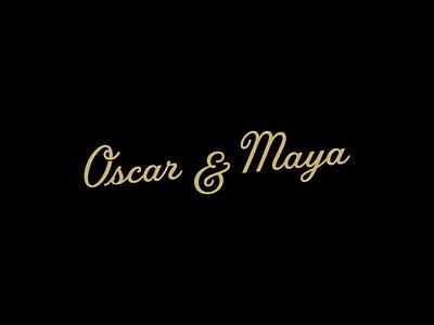 O&M typeface mark graphic design identity branding minimal typography vector wordmark type logo