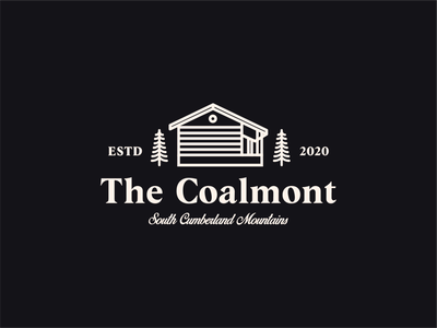 The Coalmont hotel design type mark illustration typography branding minimal logo graphic design