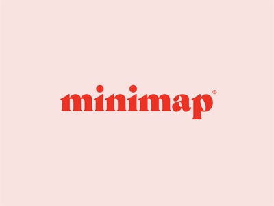 minimap flat identity vector type mark graphic design app minimal typography logo
