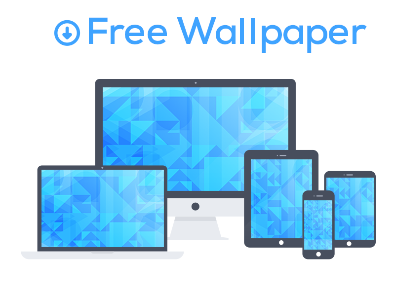 Free Blue Triangle Wallpapers freebie blue wallpaper free ios7 iphone5 imac macbook ipad triangle