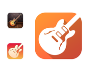 Garage Band iOS 7 icon redesign
