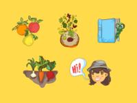 Illustrations for a Gardening App