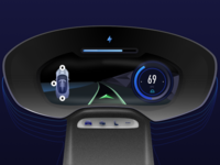 Electric Car Dashboard Concept