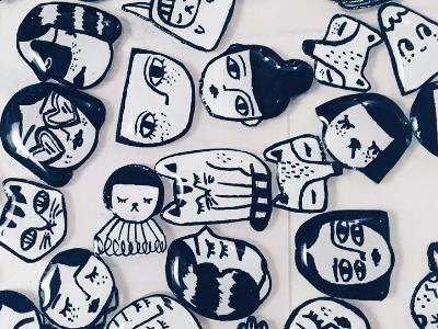 Hand Drawn Pins