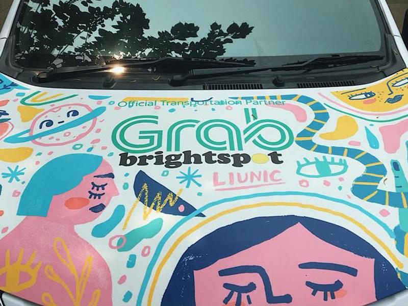 Illustration for GRAB #grabtheartcar artwork sticker carillustration illustration