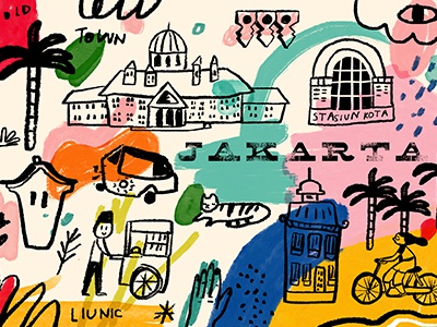 Jakarta Old Town Postcard