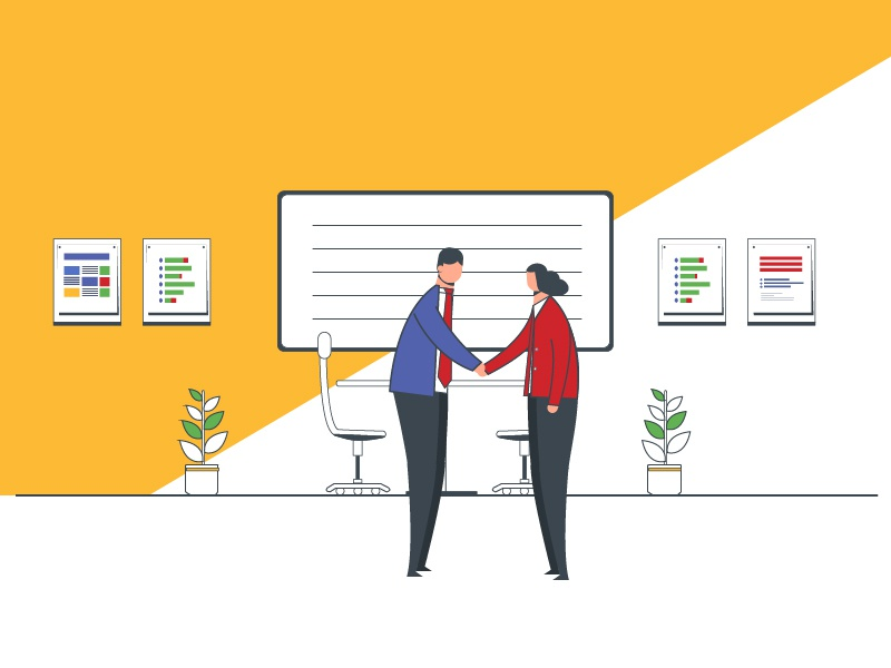 Discussions... illustration ai graphic layout vector workplace office talk discussions conference room