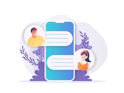 Communication! designers icon web app branding graphic ui webpage chat gradients empty whitespace mobile character vector illustration communication support helpline customer care