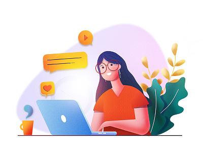 Expert advice! page success business challenge 2d designers creative exploration custom advice expert webdesign illustration web app laptop women ui website