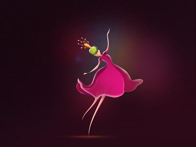 Rhythm! women media web digital art rhythm exploration moment bright light colorful flower character song dance illustraion