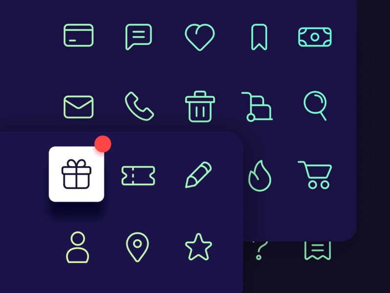 Hello Dribbble! icon set icon hello dribbble freebie first shot figma e-commerce
