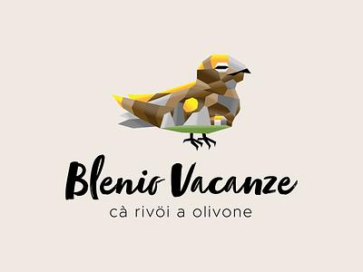 Logo design for Blenio Vacanze logo bird vector hand drawn design branding illustration