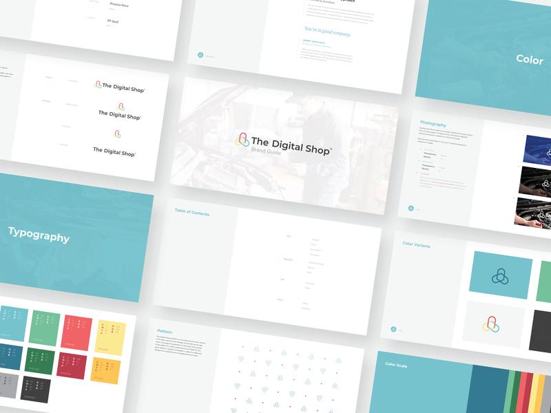 The Digital Shop StyleGuide autovitals visual identity styleguide branding design brand identity brand design icon logo design branding