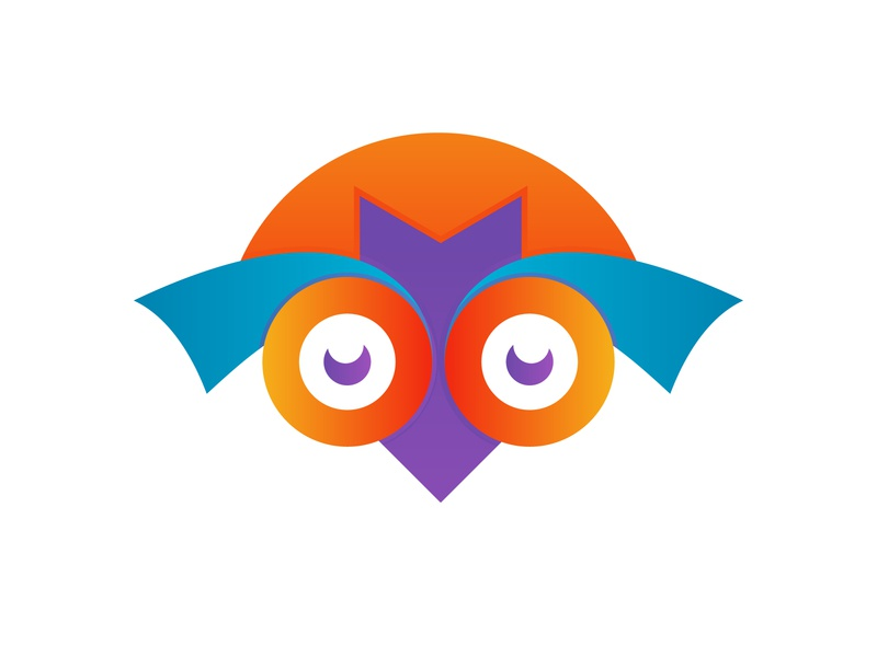 abstract colorful funny cartoon owl logo design vector illustrat company abstract flat concept branding logo creative corporate business design
