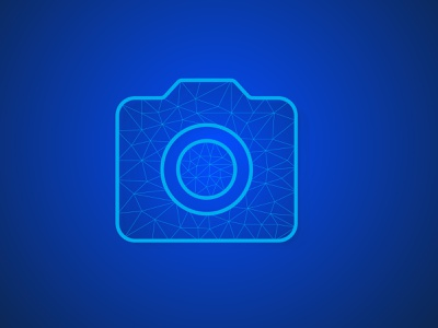 camera low poly illustration vector for ui interface  and techno background illustration vector abstract creative concept branding corporate business design