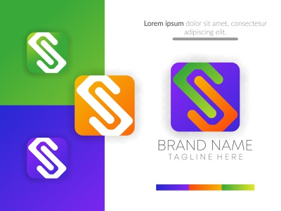 abstract creative s iconic business logo design vector. s letter logotype logo design abstract app icon ux ui flat logo branding concept corporate business design