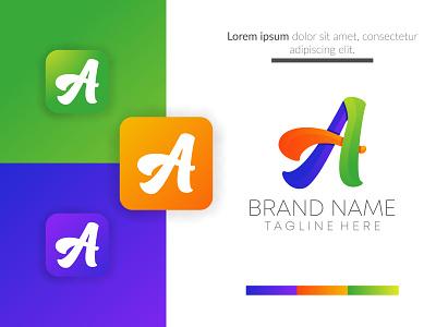 abstract creative a iconic business logo design vector. ui ux vector flat logo creative concept branding corporate business design