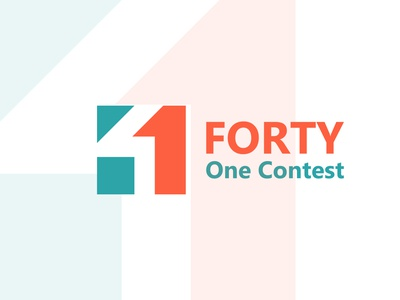 FORTY ONE CONTEST LOGO DESIGN FOR A LOGO DESIGN CONTEST SITE. company abstract flat creative logo concept branding corporate business design