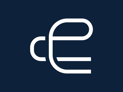 Letter E logo icon design template elements vector illustration typography flat creative logo concept branding business design