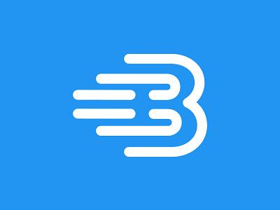 speed b letter logo design abstract ui icon art creative concept branding logo corporate business design