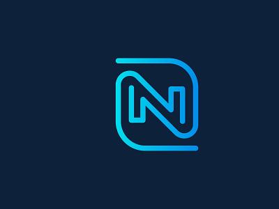 creative modern n letter logo business flat ui company concept creative branding logo corporate design