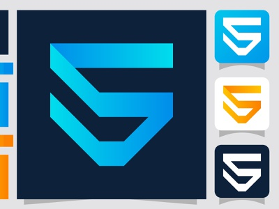 s letter logo application icon for the security company app business icon ui abstract flat creative concept branding logo