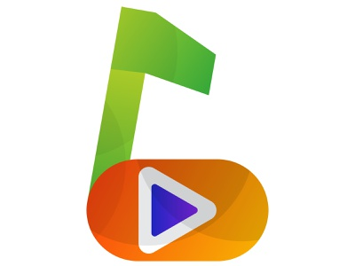music play gradient logo for music application/app app icon typography ux ui concept branding logo corporate business design