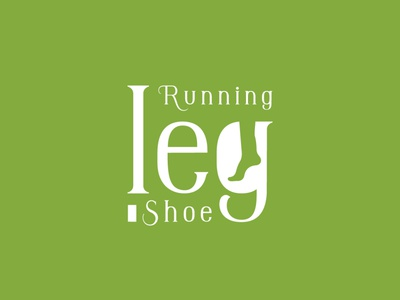 typographic logo design for running leg shoe corporate concept creative business graphic design design branding leg running shoe logo