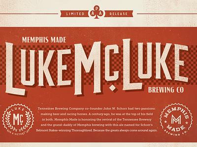 Luke McLuke APA illustration beer branding logo art direction branding design