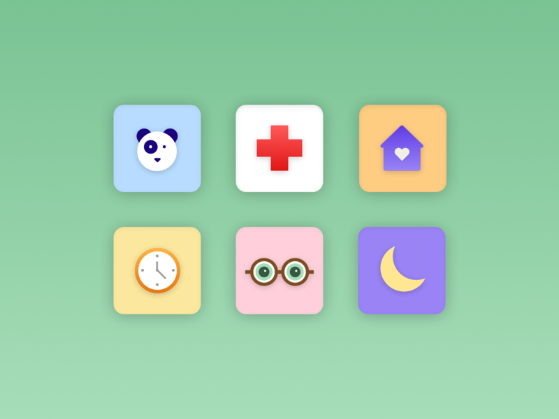 Icons illustration ui green dailyuichallenge icon design vector figma dailyui icons