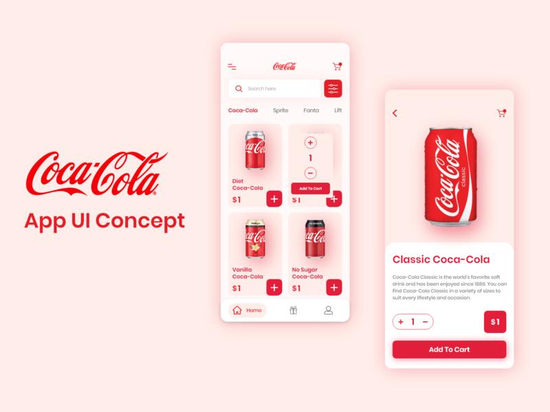 Coca-Cola app ui concept
