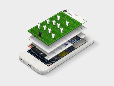 Soccer formation football ios7