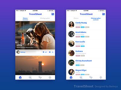TravelShoot Main interface ui