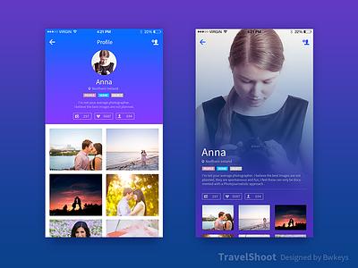 TravelShoot Profile ui profile
